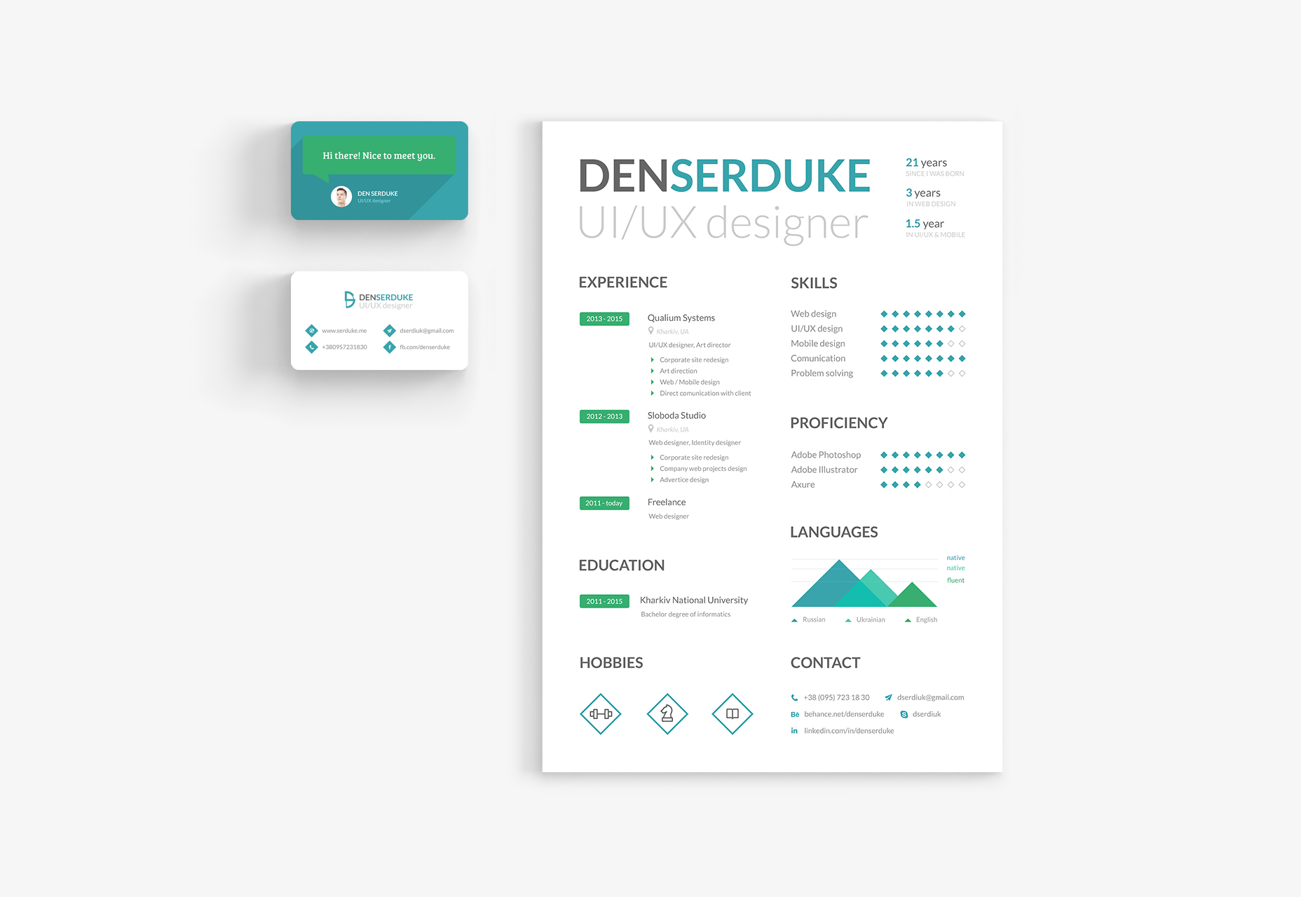free-resume-business-card-template