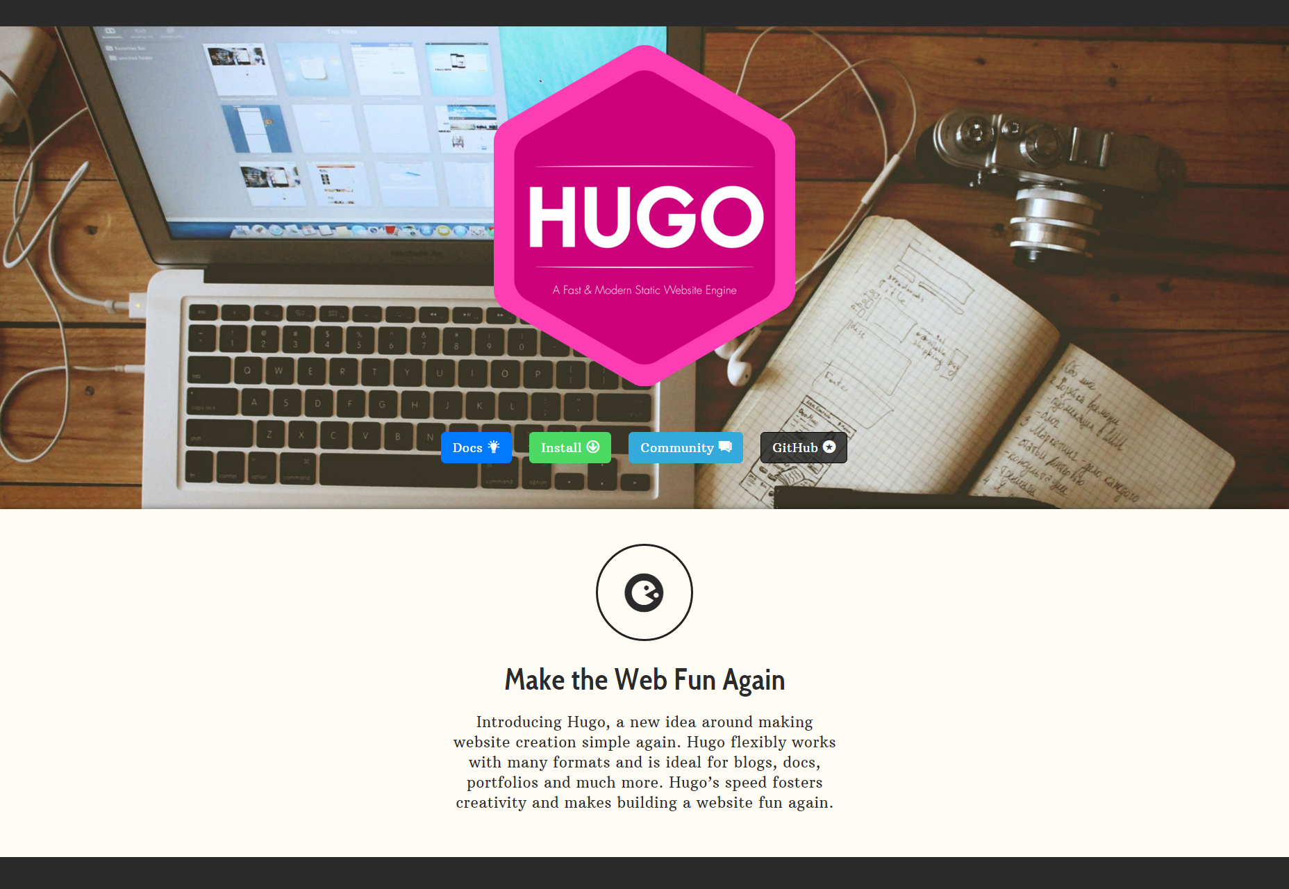hugo-a-fast-and-modern-static-website-engine