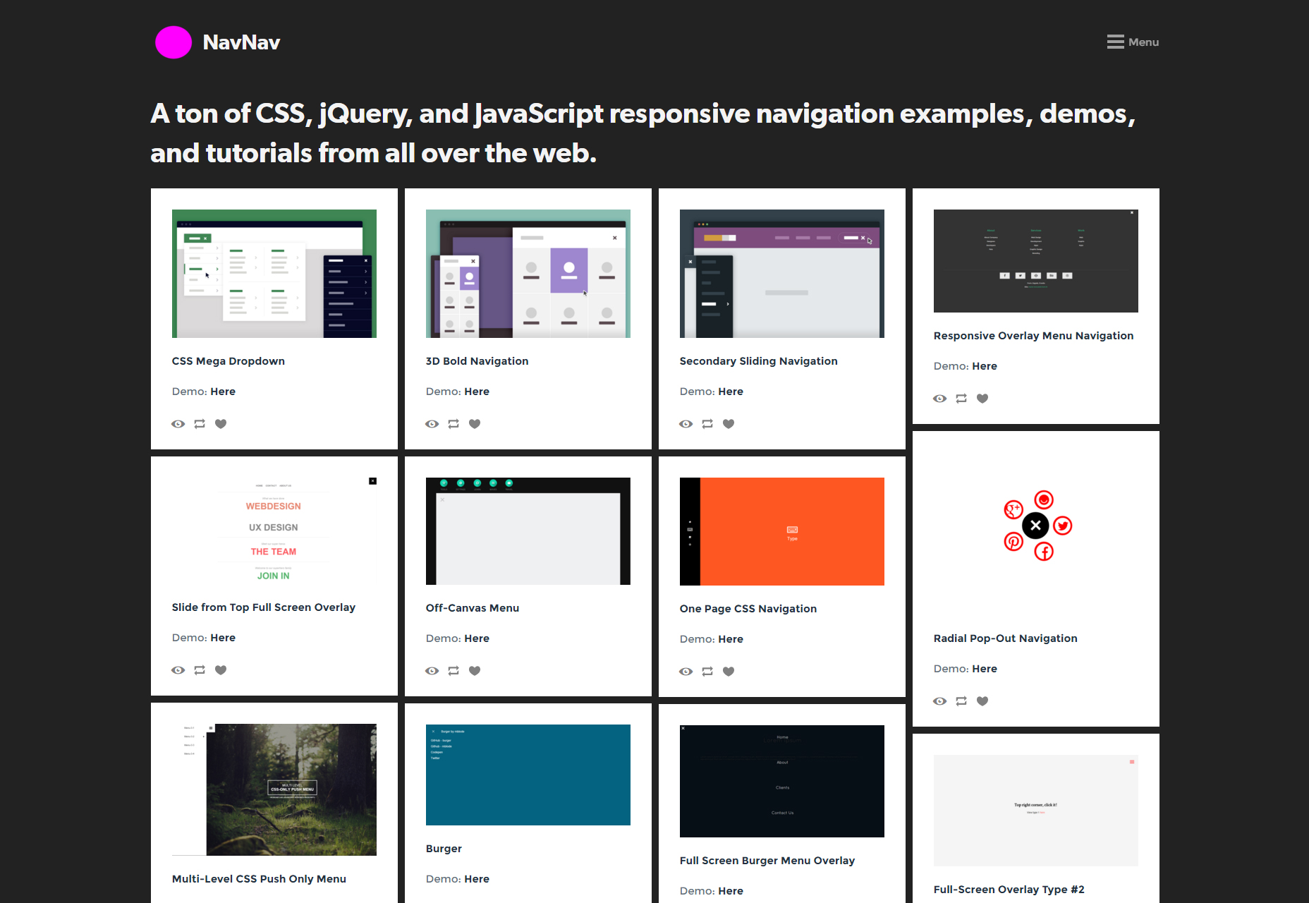navnav-responsive-navigation-bar-menu-resources