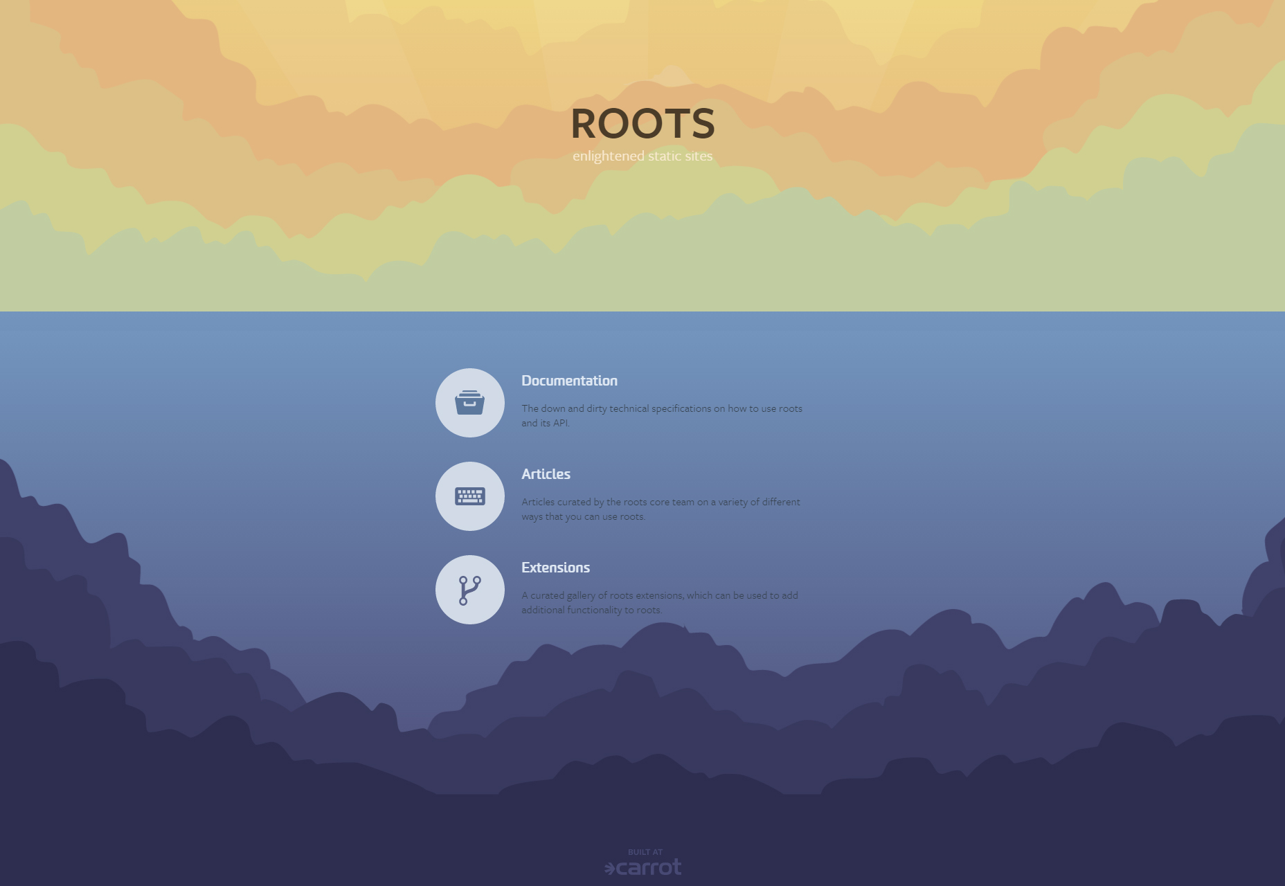 roots-static-front-end-sites-generator