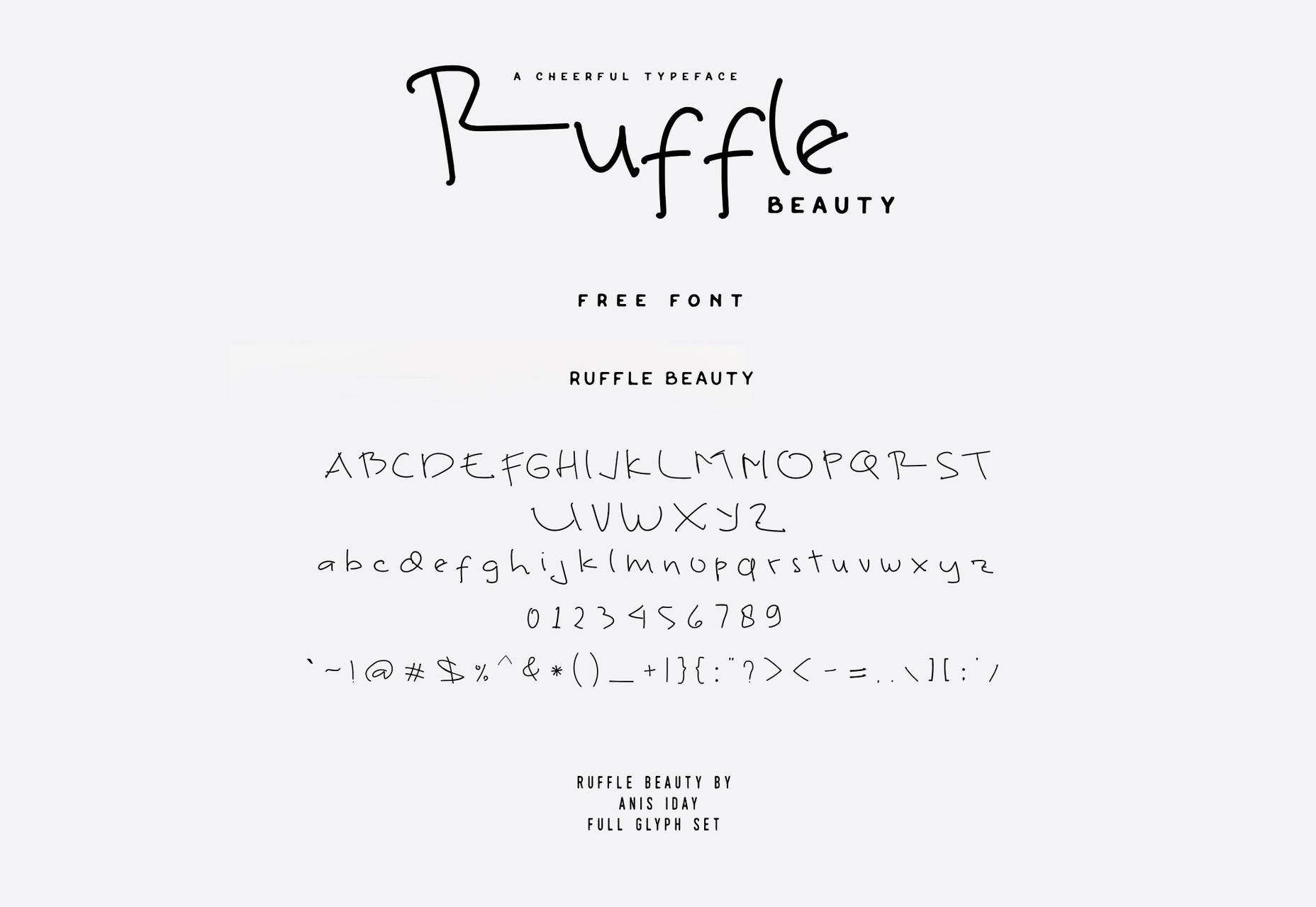 ruffle-thin-line-handwritten-font