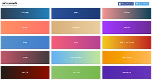 UIgradients 美丽的UI渐变色分享 并可转成CSS代码