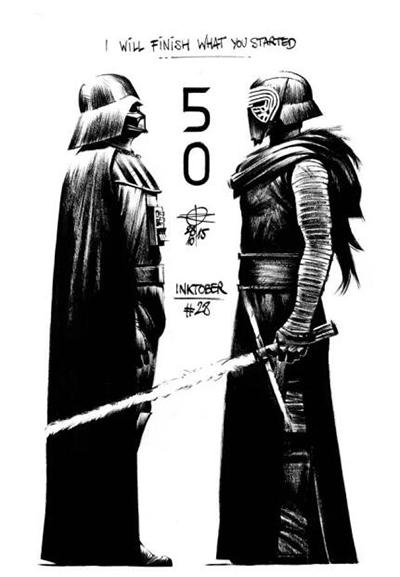 原力觉醒!全球50位顶尖插画师笔下的《星球大战》