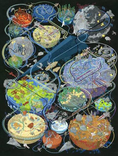 全球50位頂尖插畫師筆下的《星球大戰》,情懷滿滿,熱血沸騰!
