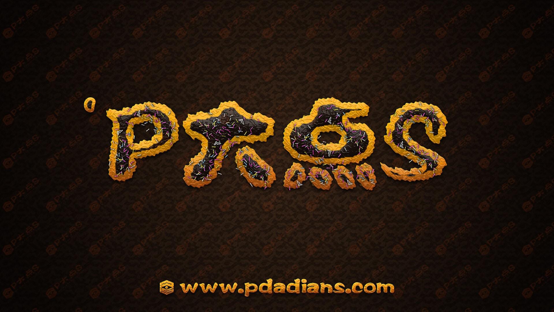 PS新手教程!手把手教你创建美味的巧克力字体效果