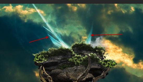 PS新手教程!手把手教你合成超现实风格的海上浮树