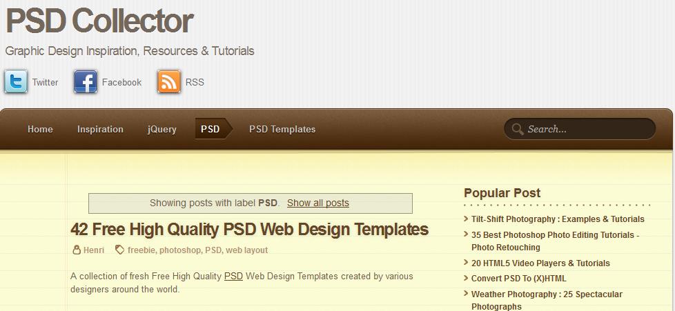 超赞!国外设计师常用的10大PSD素材资源站