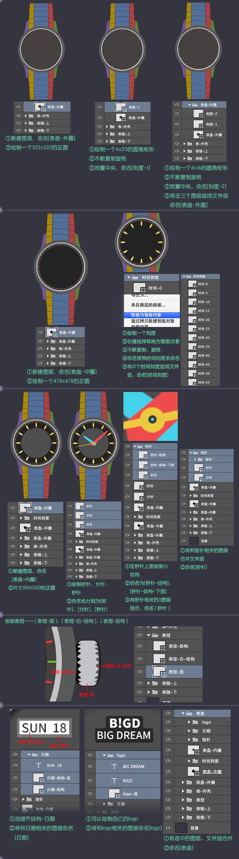 PS高手教程!30小时拟物图标速成记之写实手表篇