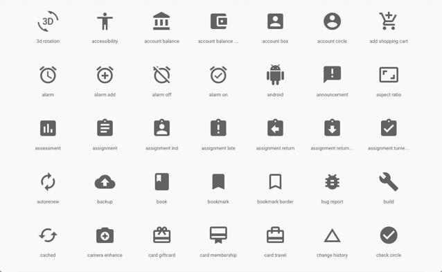 Google 提供免费 Material icons 向量图示集,可自由用于个人或商业项目