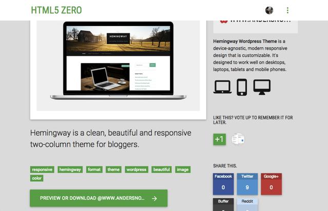 HTML5 Zero