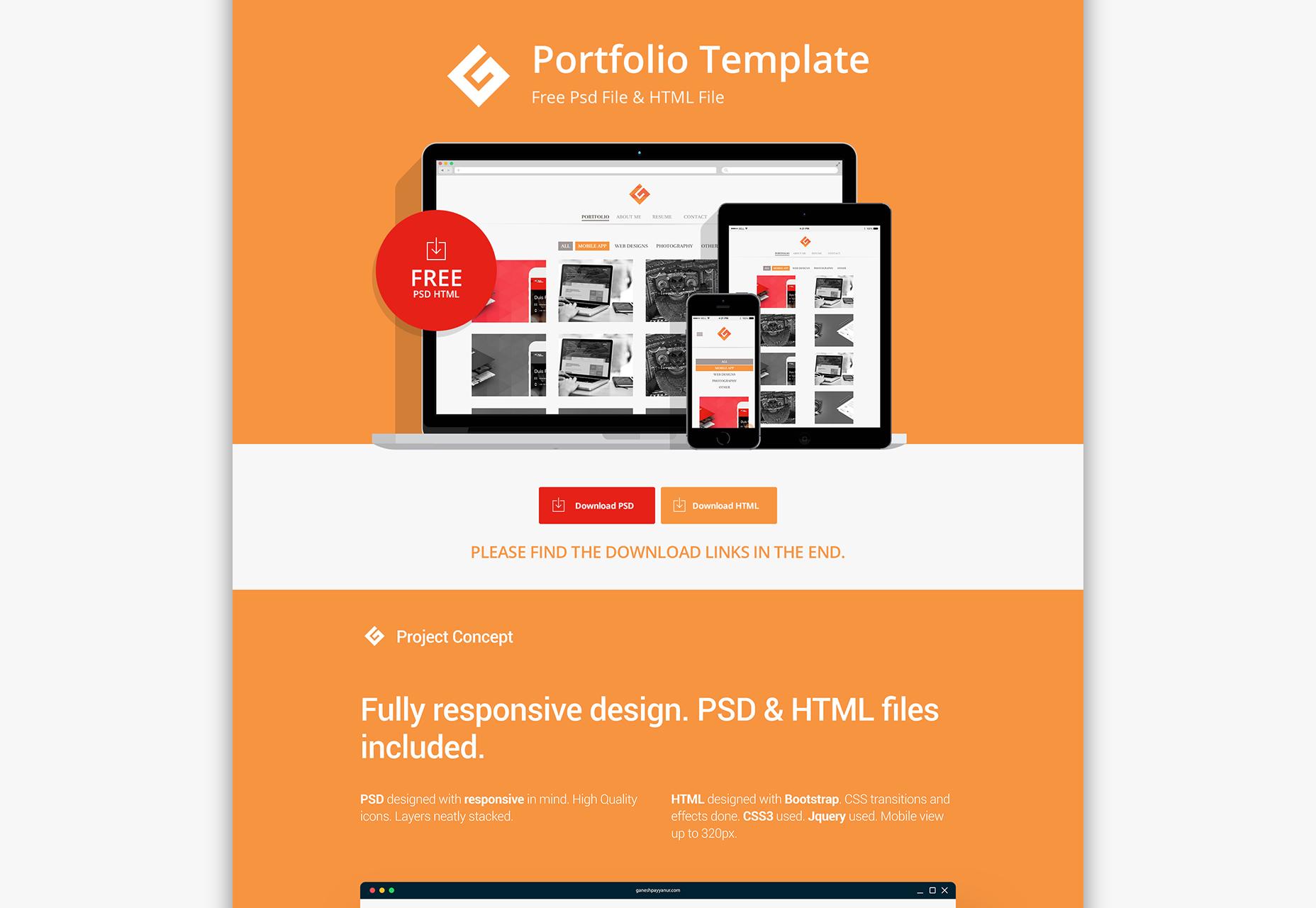 flat-portfolio-psd-html-template