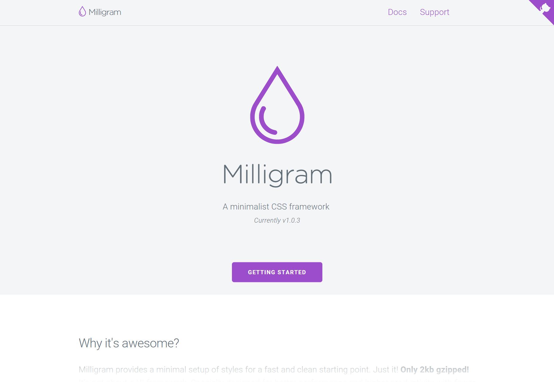 milligram-minimalist-css-framework