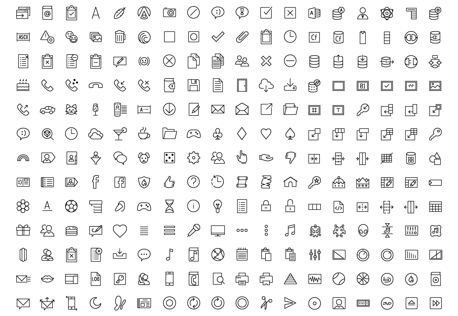 outline-filled-vector-icons-collection-
