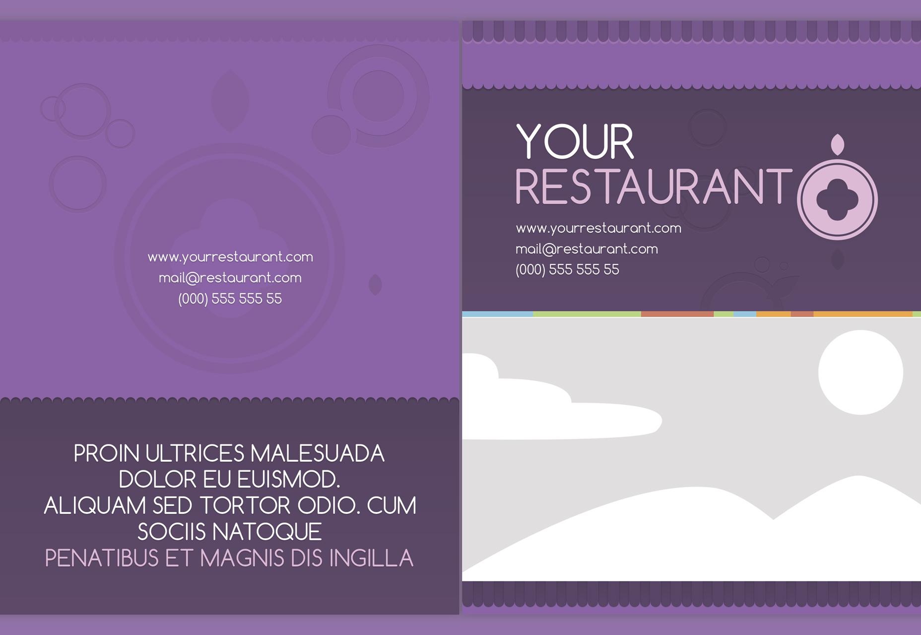 picnic-vector-lavender-menu-template