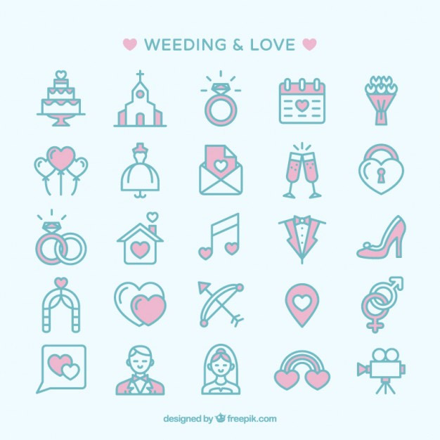 free wedding icons