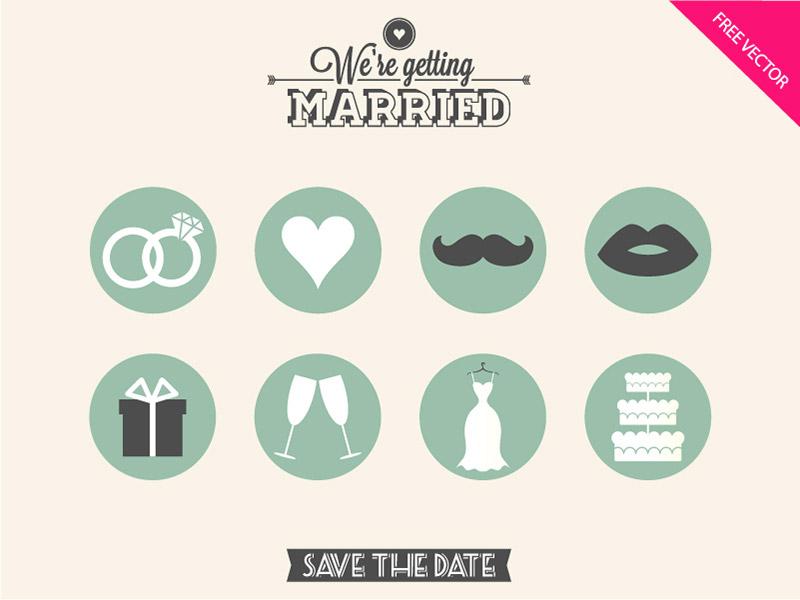 打包好了!12组高质量的婚礼图标免费下载
