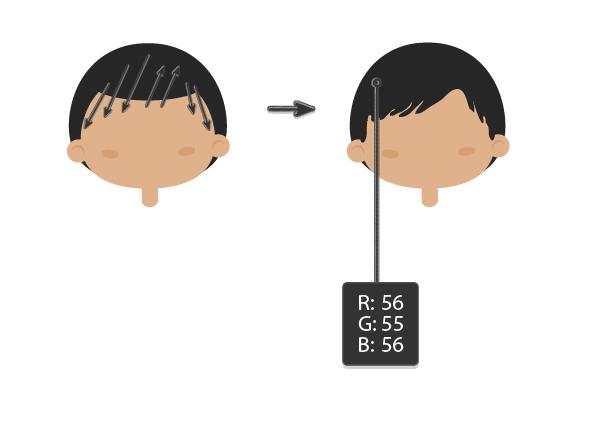AI教程!教你绘制扁平化风格的卡通人物肖像(四人组合篇)