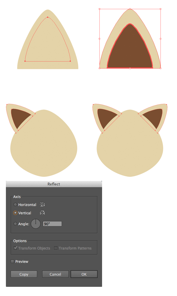 AI教程!教你绘制六个扁平化风格的卡通小动物肖像