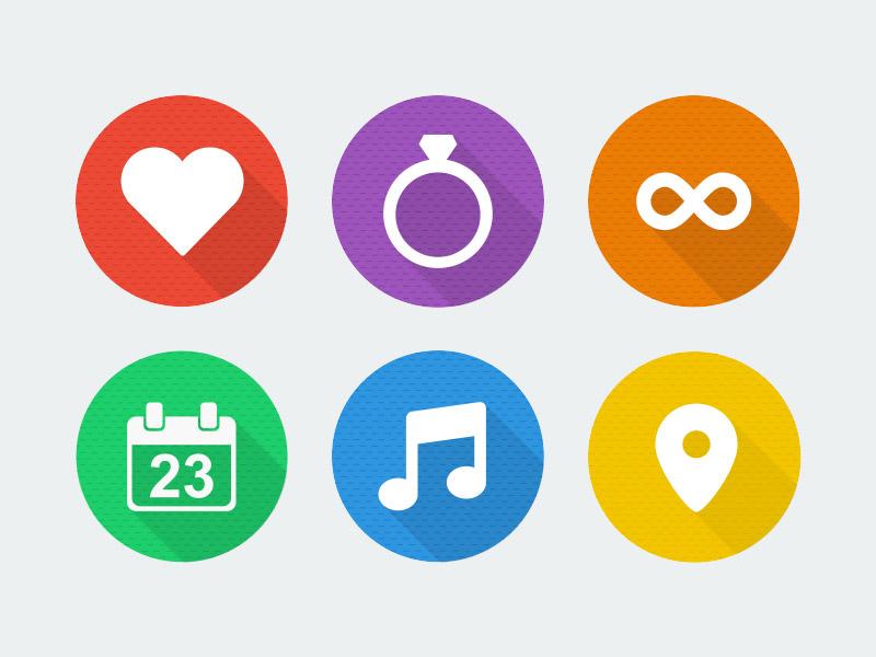 flat icons wedding