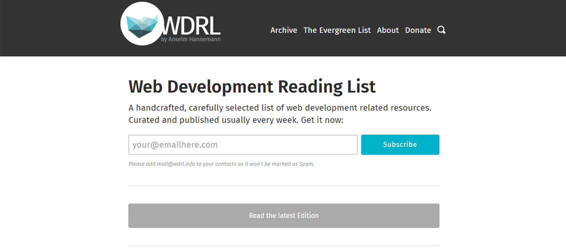 Web-Development-Reading-List
