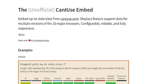 caniuse