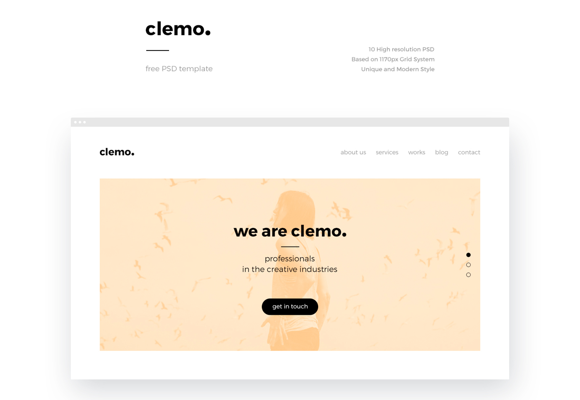 clemo-clean-modern-blogging-psd-template
