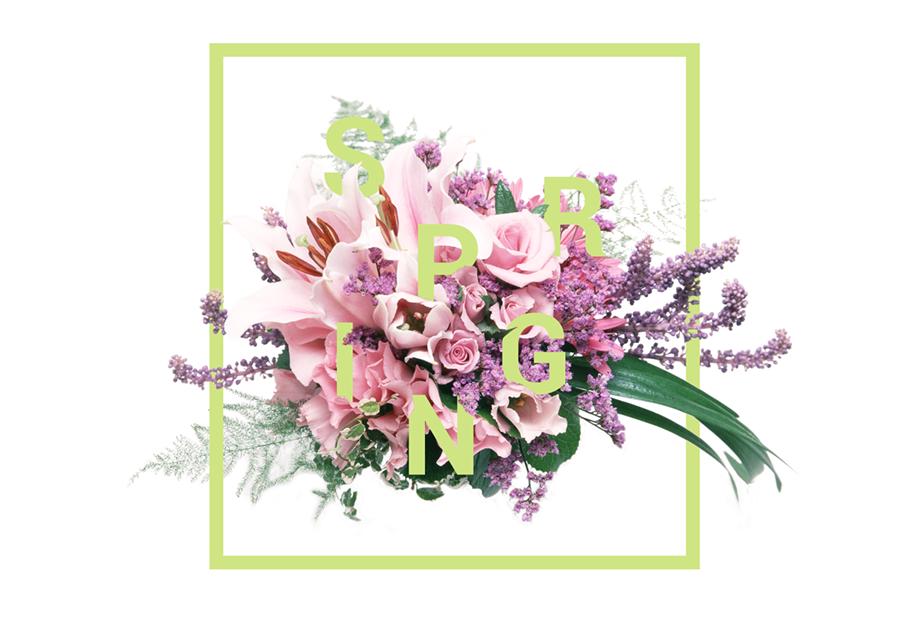 PS新手教程!用蒙板绘制优雅趣味的花艺字体效果