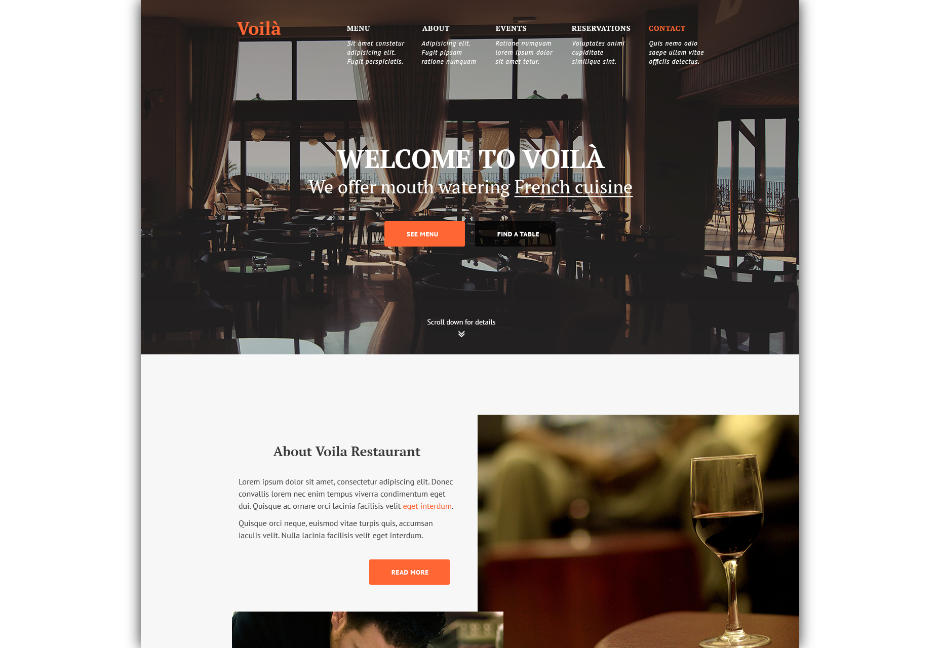 voila-restaurant-website-psd-template