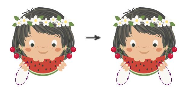 AI教程!手把手叫你绘制可爱的吃西瓜女孩