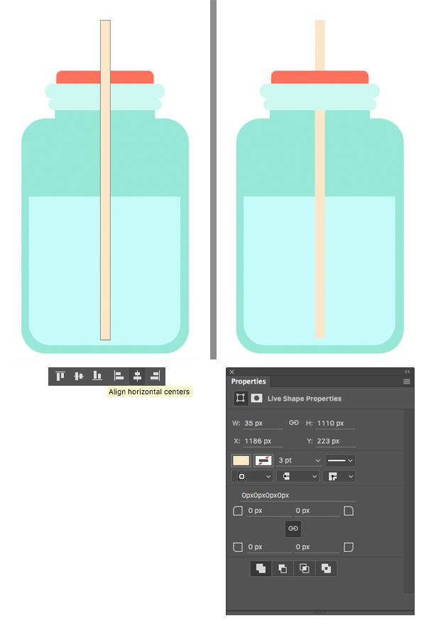 make a straw from the rectangle