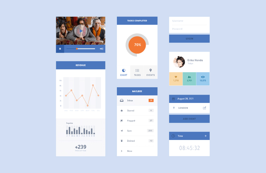 Blue-Flat-UI-Kit-Free-PSD