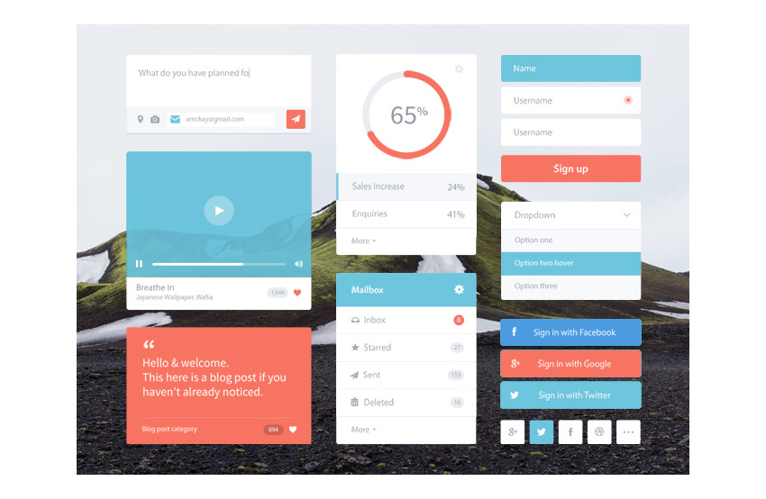 Flat-Colorful-UI-Kit-Free-PSD