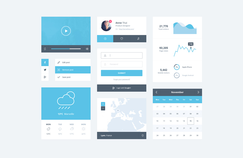 Ice-Blue-Minimal-UI-Kit-Free-PSD