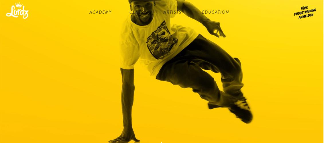 超赞!一组配色醒目明快的黄色系优秀网页设计