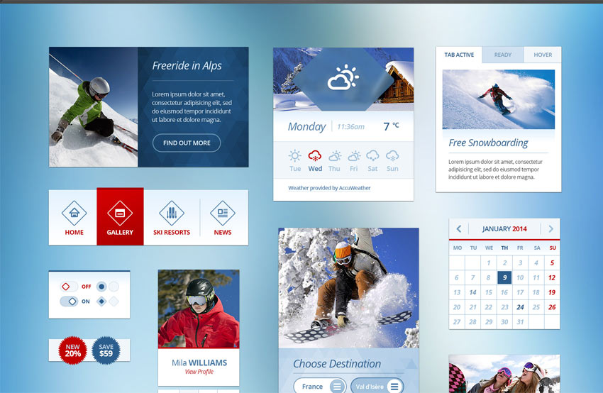 Snow-Flakes-Winter-UI-Kit-Free-PSD