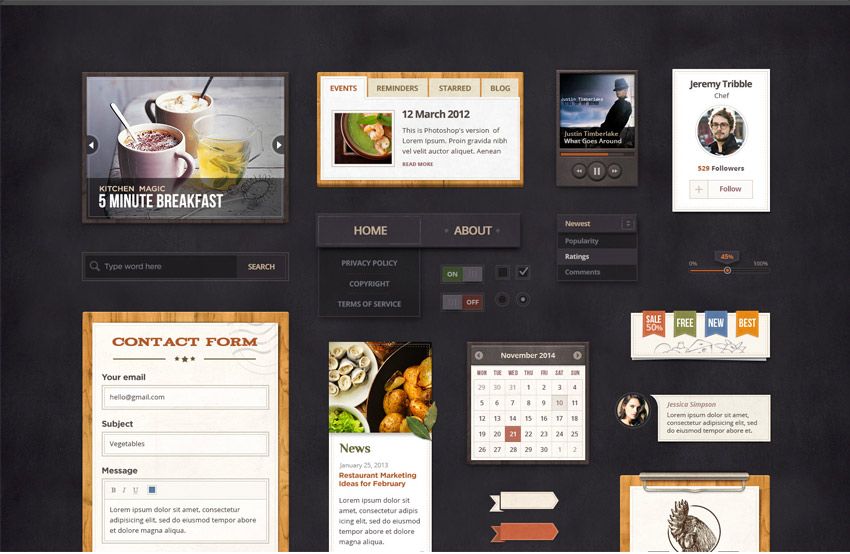 Spicy-Treats-Restaurant-UI-Kit-Free-PSD