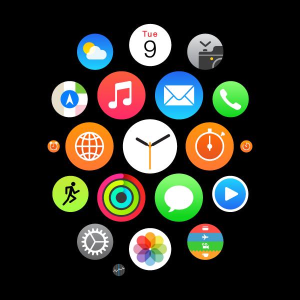 AI进阶教程!手把手教你绘制20个Apple Watch的图标