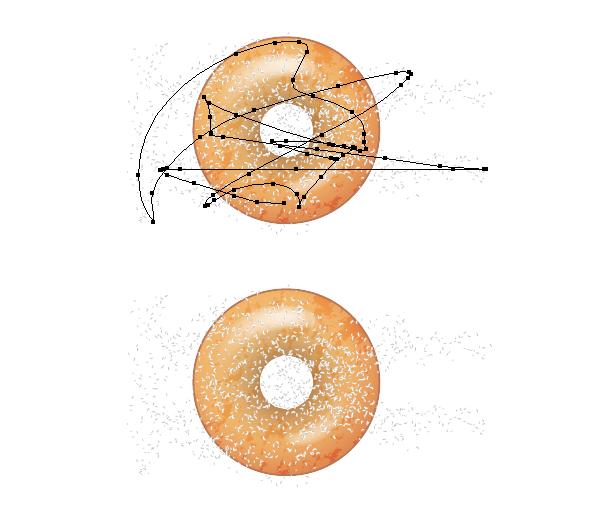 add sugar on donut 2