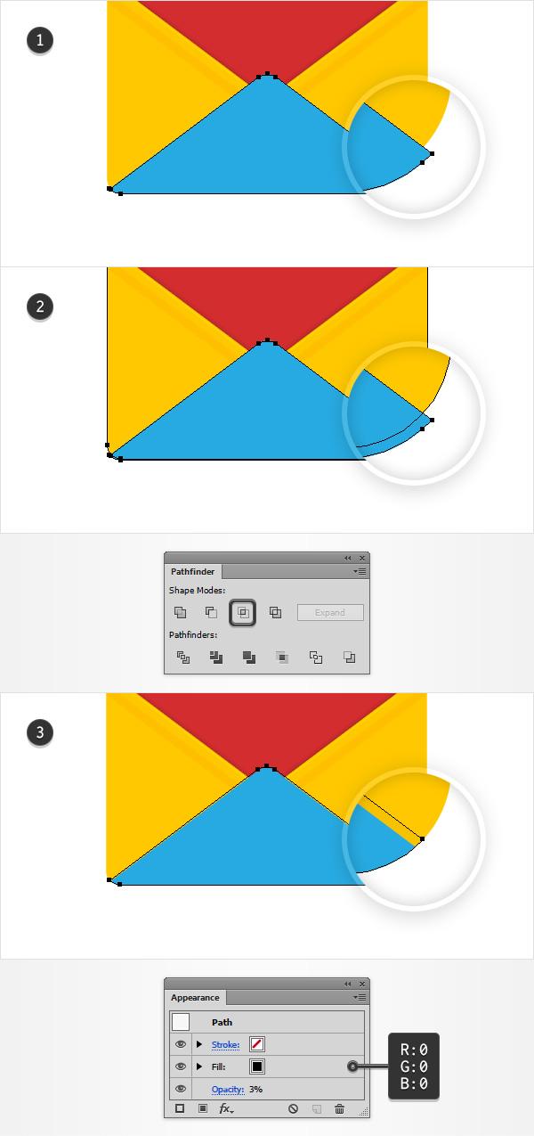 AI教程!手把手教你绘制一枚雅致的红色信封图标