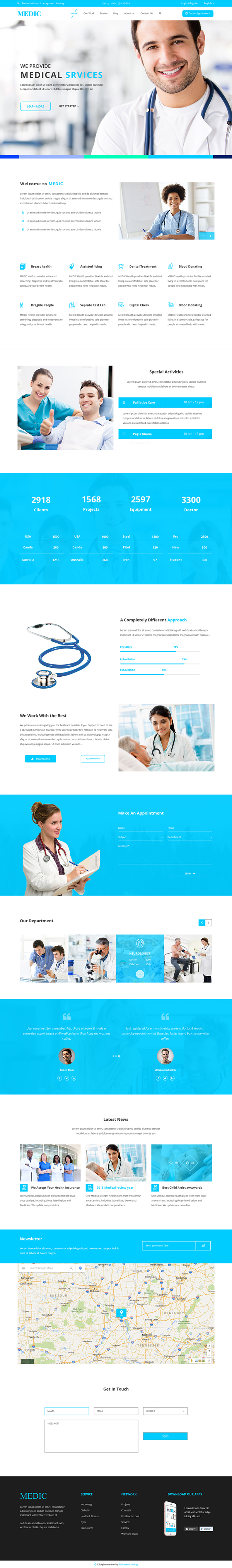 月底福利!一组高质量的网站模版PSD免费打包下载(可商用)