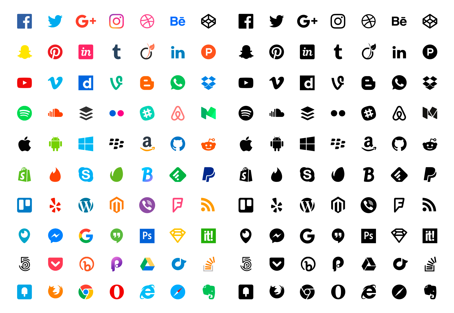 70-flat-social-sketch-icons
