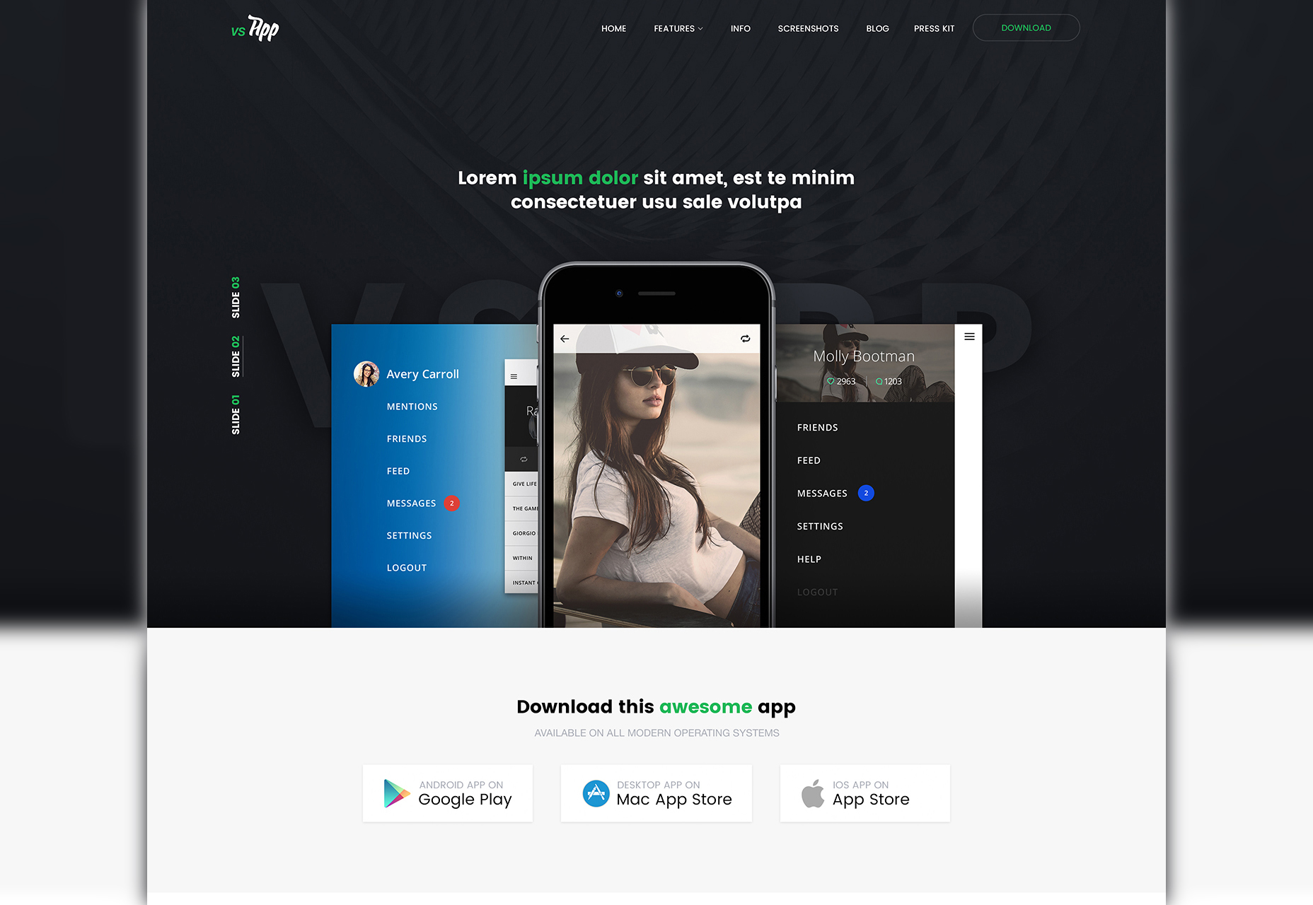 vsapp-mobile-web-psd-template