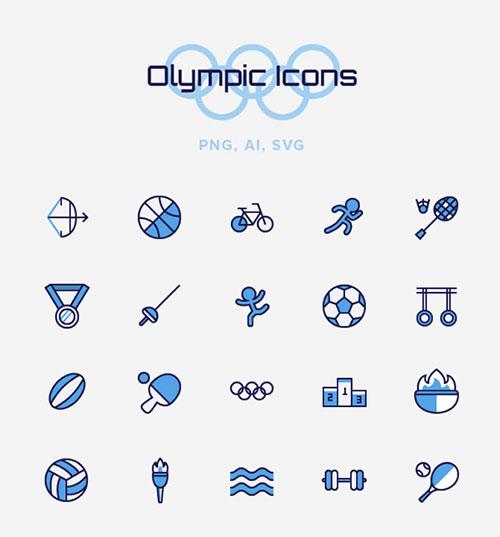 奥运专属!13组优质的体育图标素材免费打包下载