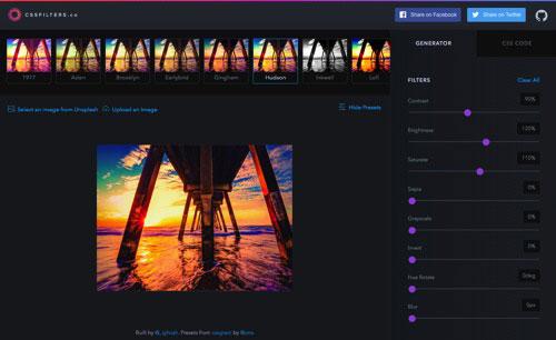 酷站两连发!CSS 滤镜工具+提高效率的音乐网站