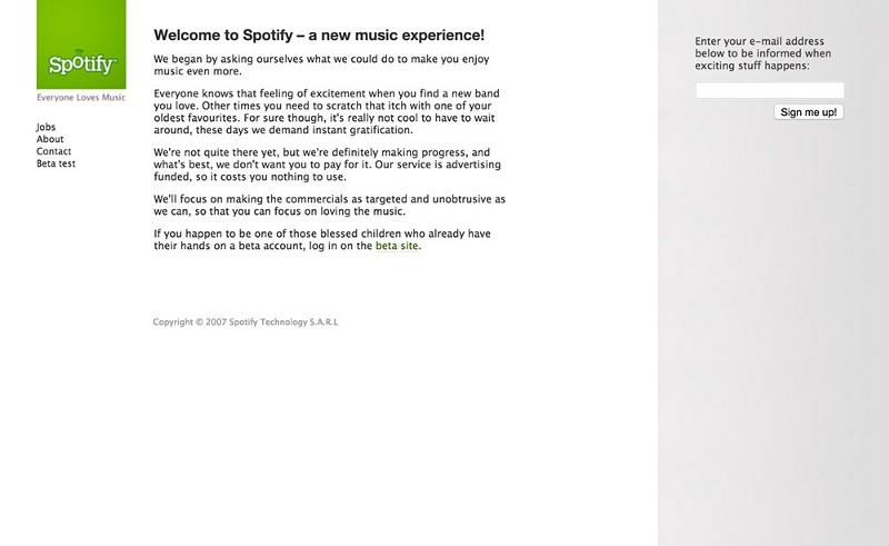 十年巨变!全球音乐平台Spotify官网的用户体验变迁(2006-2016)