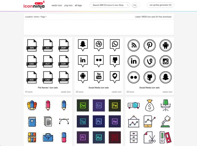 酷站两连发!收录高达130万免费图标素材的两个网站