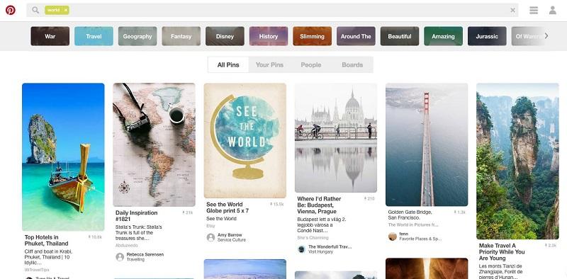 用5分钟时间,帮你全方位认识设计素材神站Pinterest