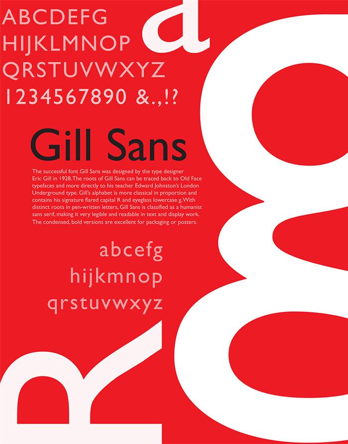 这些经典的英文字体,设计师都应该知道