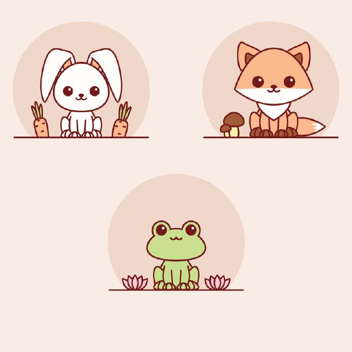 AI基础教程!教你绘制一组可爱的小动物插画