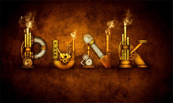 PS进阶教程!教你绘制酷炫的蒸汽朋克风字效